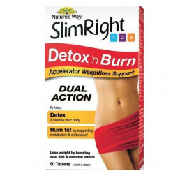 Nature's Way Slim Right Detox and Burn 60 Tablets