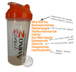 Amino Z ULTRA Shaker Bottle 700mL with Mixer
