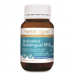 Herbs of Gold Activated Sublingual B12 75 Tablets