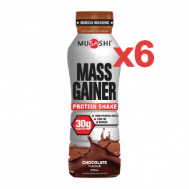 Musashi Mass Gainer Protein Shake RTD 375ml (Box of 6)