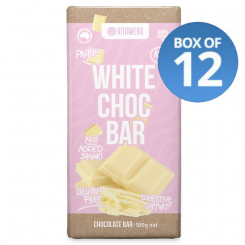 Vitawerx White Choc Bar 100g (Box of 12)