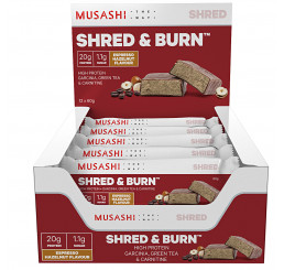 Musashi Shred & Burn Bar 60g (Box of 12)