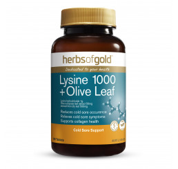 Herbs of Gold Lysine 1000 + Olive Leaf 100 Tablets