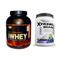 Optimum Nutrition Gold Standard 100% Whey 5lbs + Scivation Xtend 90 serves