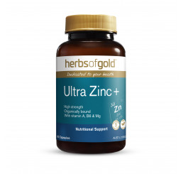 Herbs of Gold Ultra Zinc+ 60 Vegetable Capsules