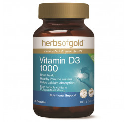 Herbs of Gold Vitamin D3 1000 120 Capsules